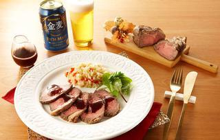 塩麹ローストビーフとクスクス風玄米サラダの写真