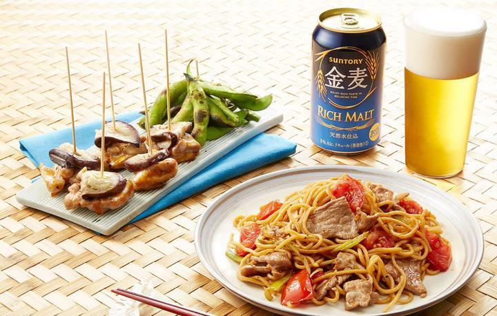 夏の屋台風おつまみセット  焼き枝豆 スパイス風味