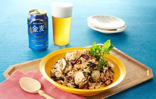 牡蠣のリゾット風炒飯の写真
