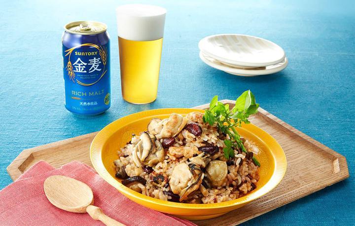 牡蠣のリゾット風炒飯