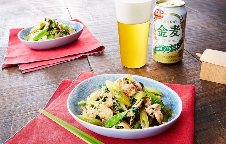 蕗と豚肉の生姜炒め