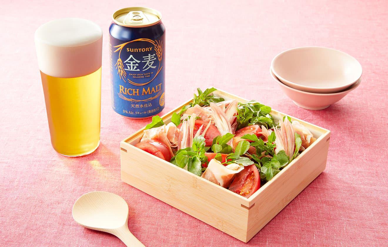 ボックスブーケ風ちらし寿司の写真