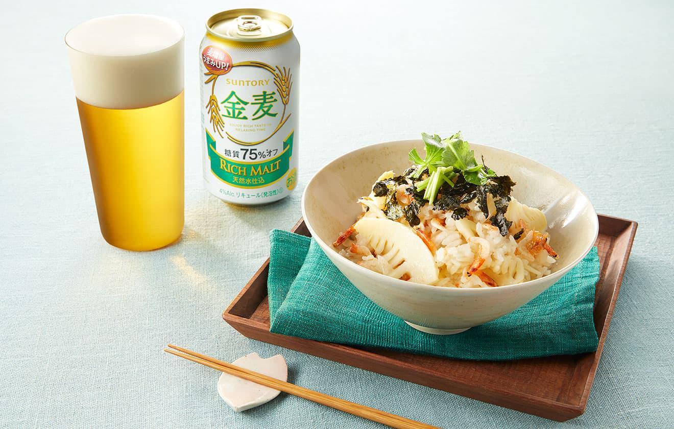 桜海老と筍の炊き込みごはん の写真