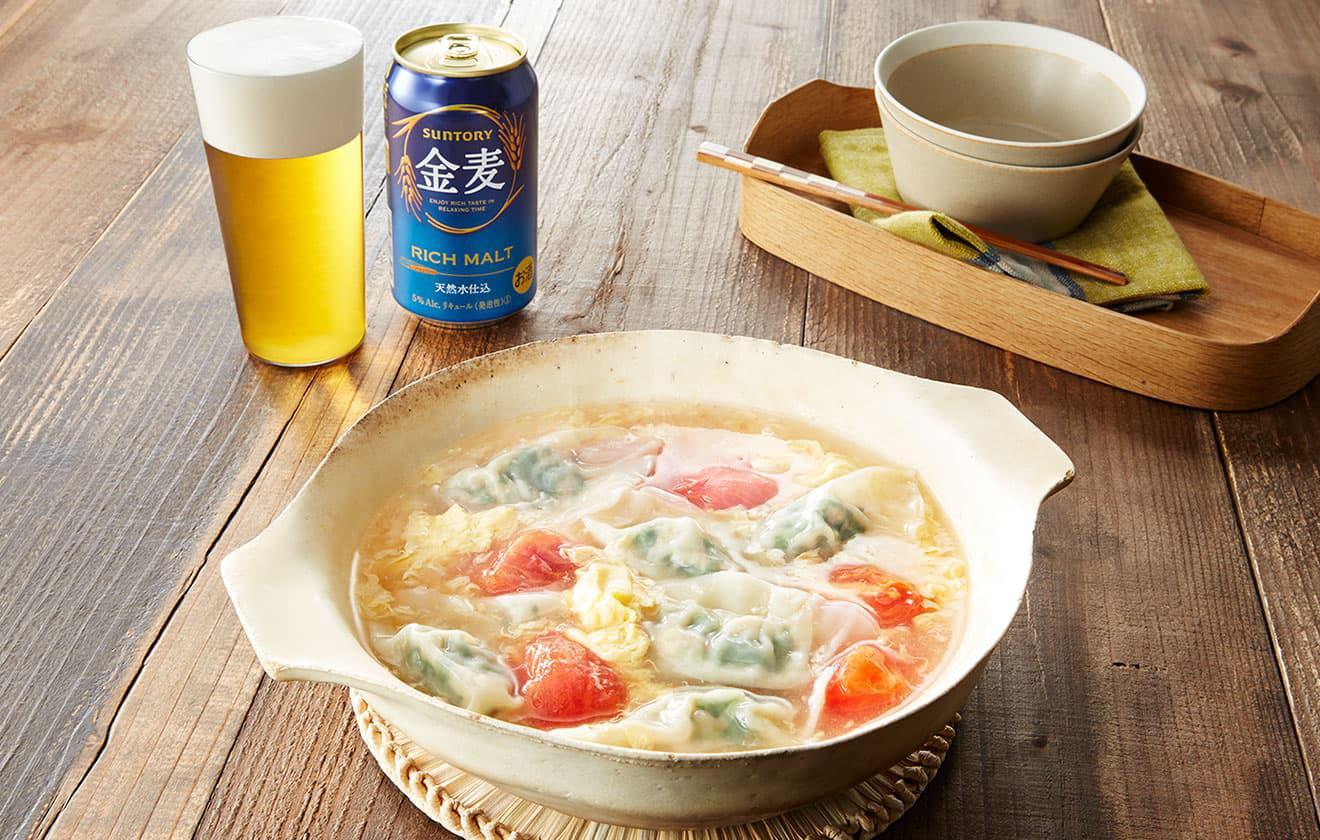 春菊の水餃子鍋の写真