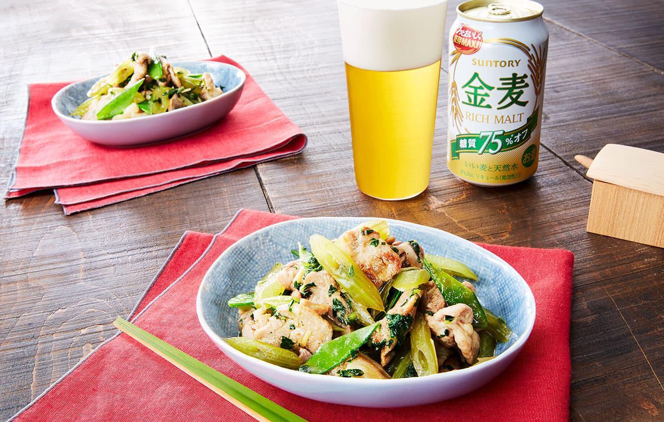 蕗と豚肉の生姜炒めの写真