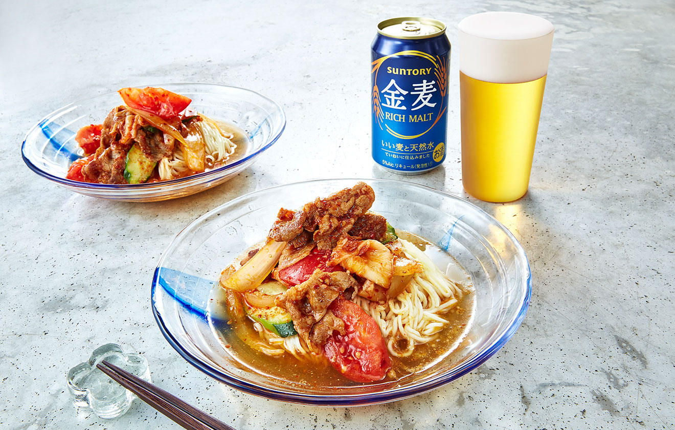 豚キムチ冷麺の写真