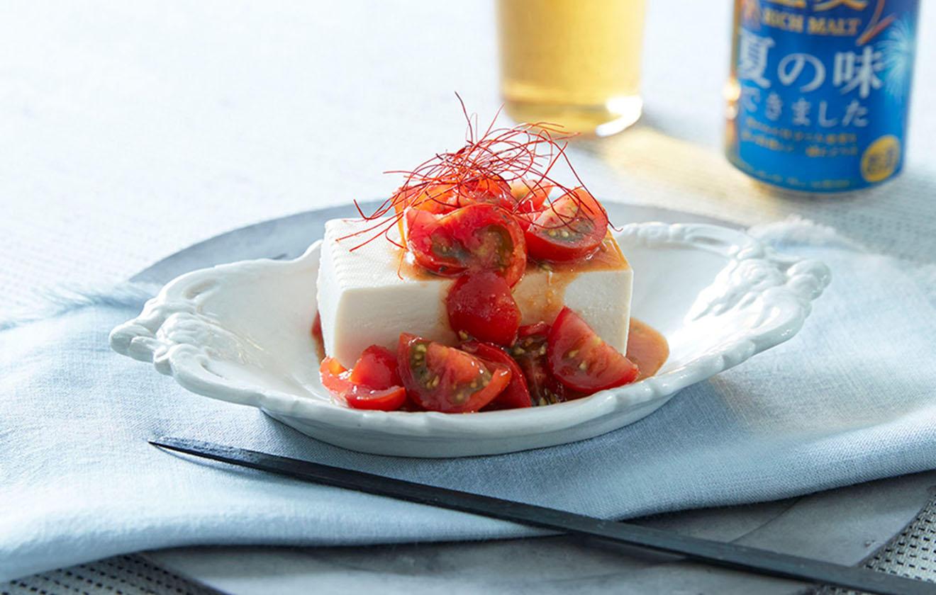 韓国風トマト冷奴の写真