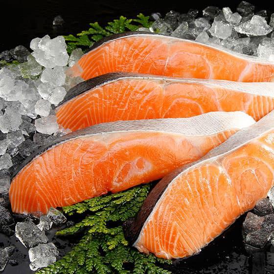 旬の食材・鮭の写真