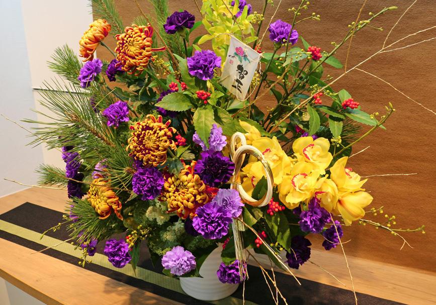 1月の花飾り
