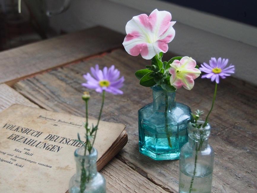 育てた花を飾ってリラックス