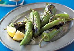 本気野菜グルメピーマン若穫りグリーンホルンのグリル焼き