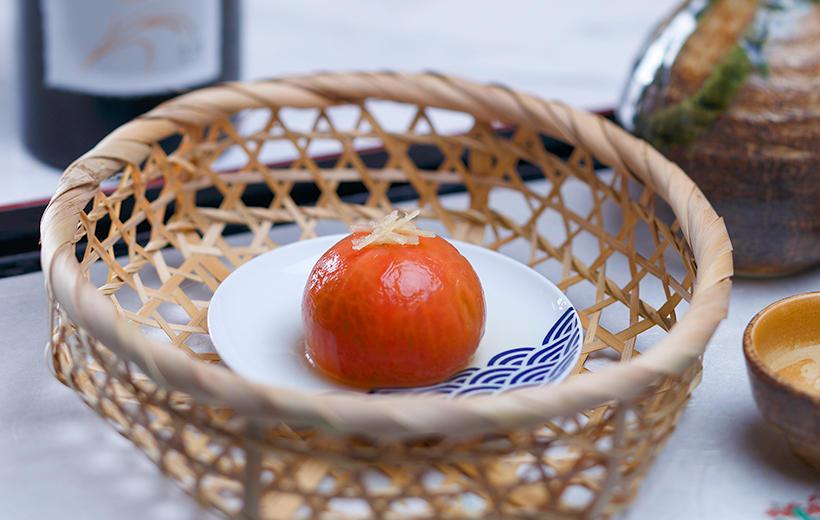 こいあじトマトのお浸し
