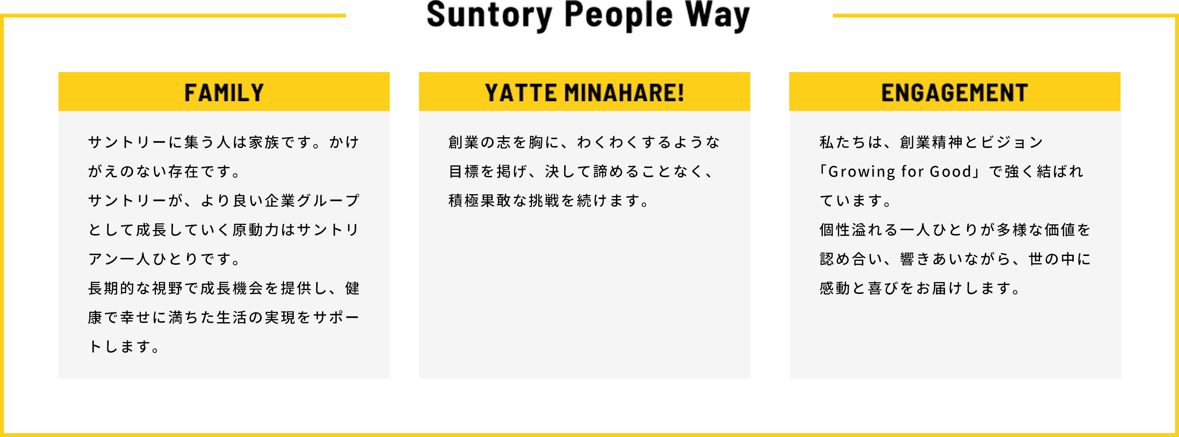 Suntory People Way