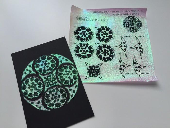 体験型ミニレクチャー「はじめてひらく 美のとびら」漆芸の巻 浮線綾文を知ろう イメージ