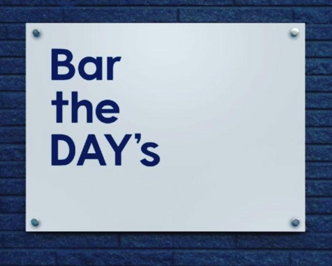 Bar the DAY's