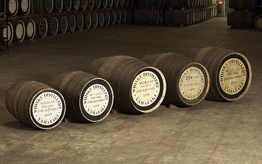 さまざまな樽による原酒のつくり分け